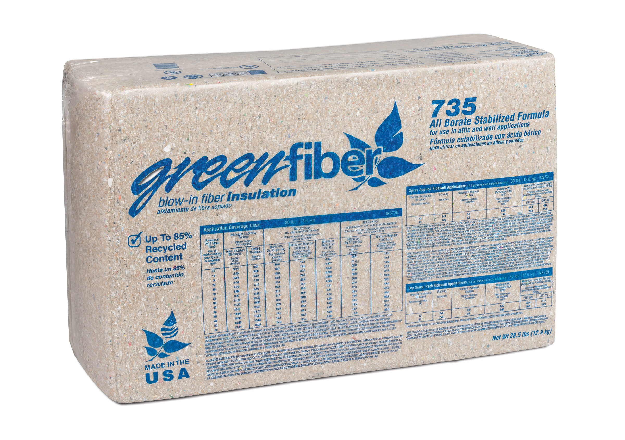 Image of INS735 All Borate-Treated Stabilized Spray-In Insulation