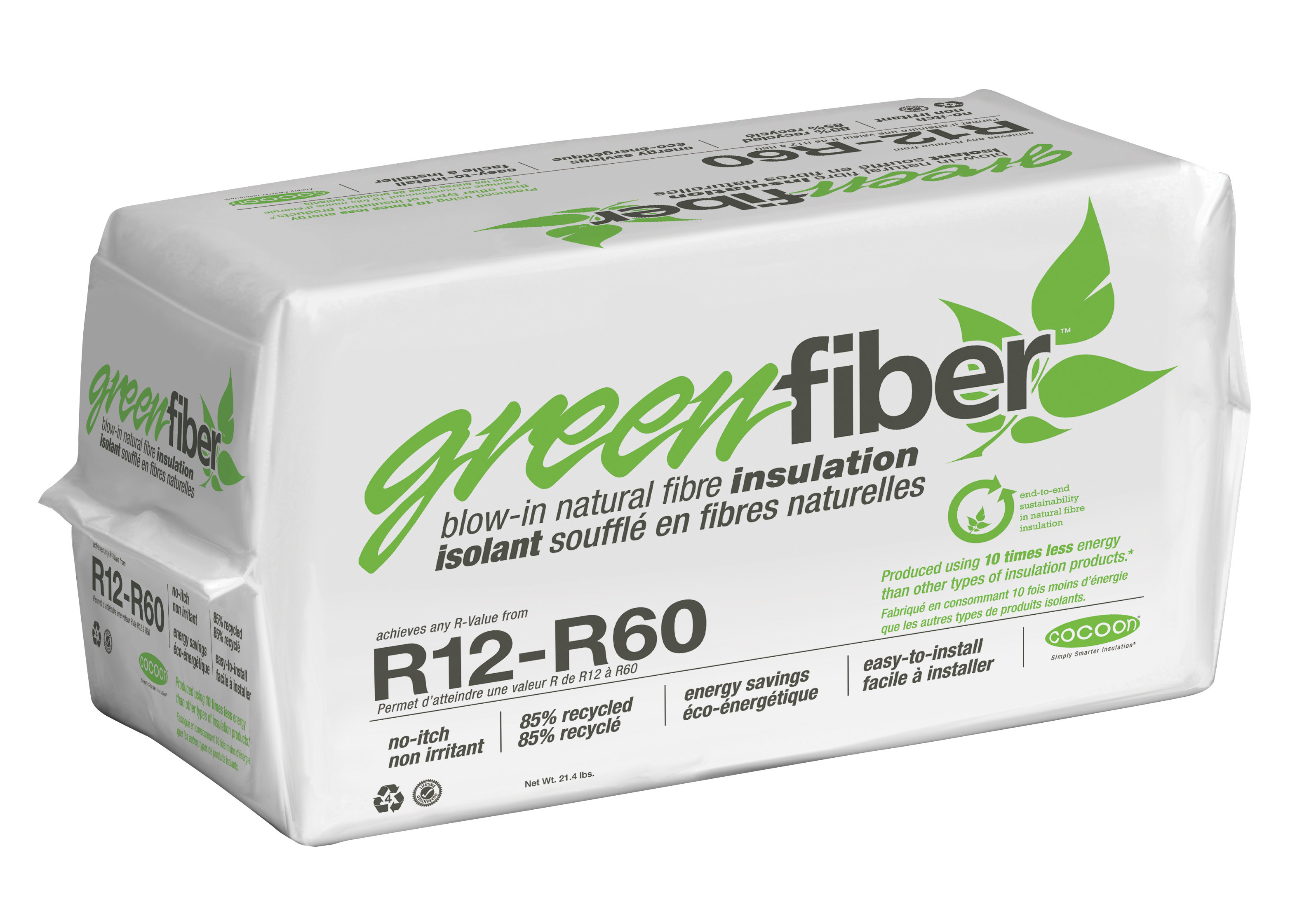 Greenfiber greenfiber ins550ld can low dust loose fill for Loose fill insulation r value